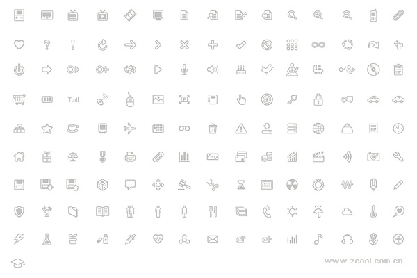 Simple lines of a number of practical small icon vector material