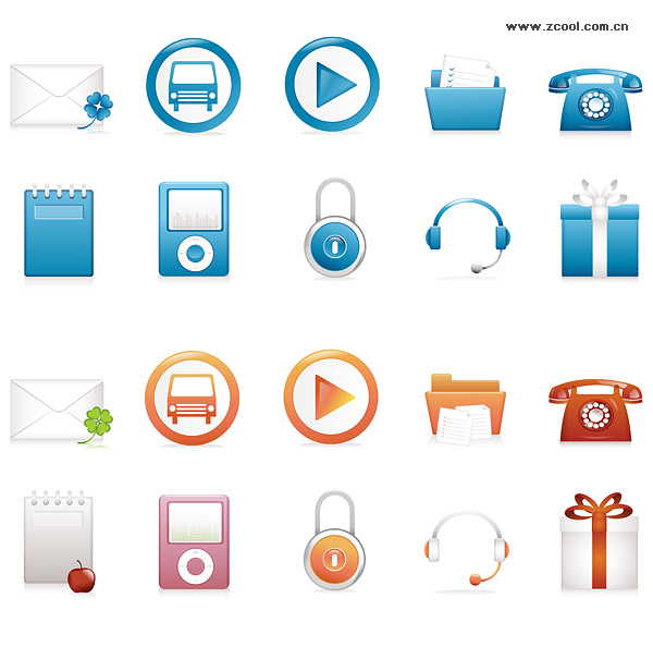 Today Series icon vector material-1
