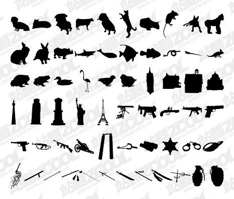 1000 album various silhouette vector material-10