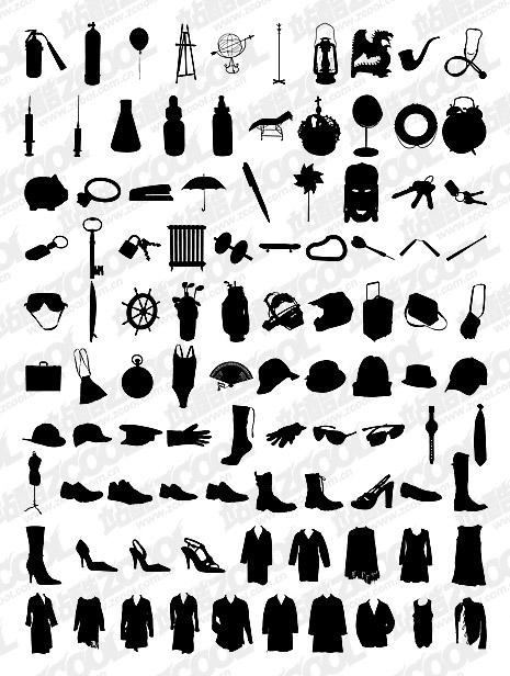 1000 album various silhouette vector material-8