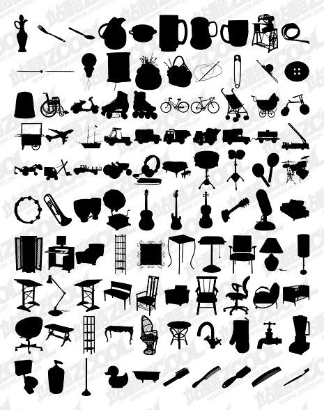 1000 album various silhouette vector material-7