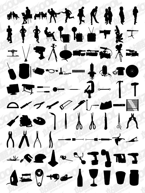 1000 album various silhouette vector material-6
