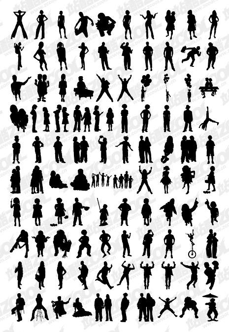 1000 album various silhouette vector material-4