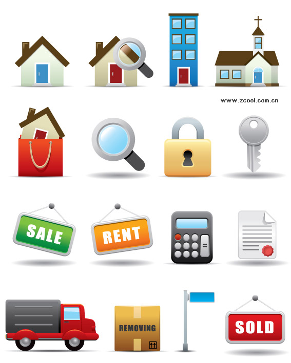 A set of exquisite decoration shopping icon vector material