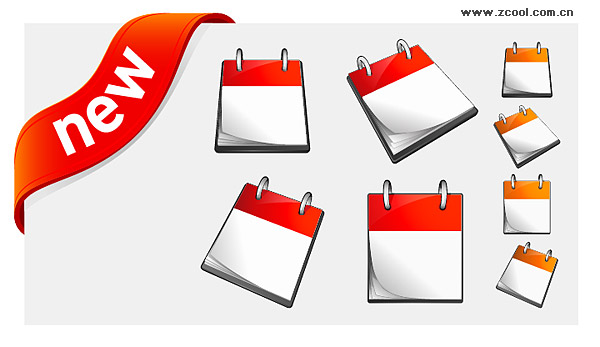 Calendar, and new decorative icon vector material