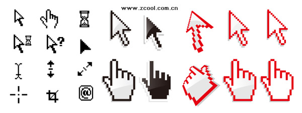 System of the mouse pointer vector material