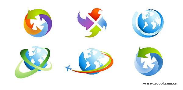 Arrow icon vector material earth