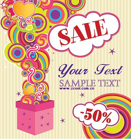 Discount sales trend vector material-3
