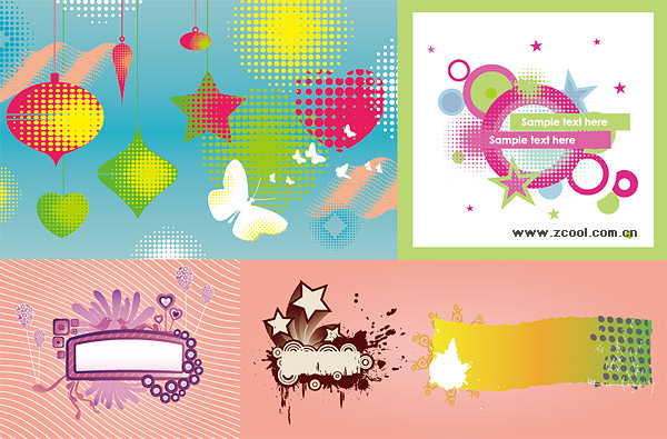 the trend of design elements vector material