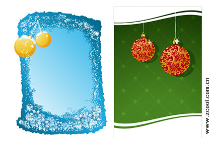 Christmas decoration 2 element vector material