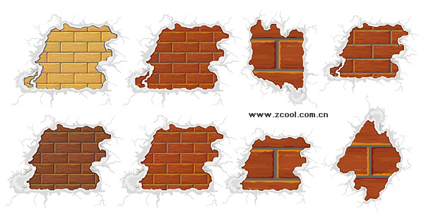 Surrounded by snow-brick vector material