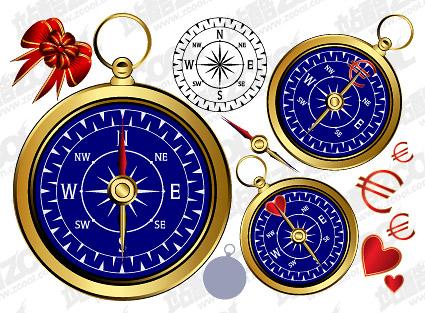 Golden compass vector material
