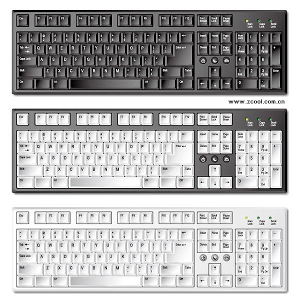Exquisite keyboard vector material