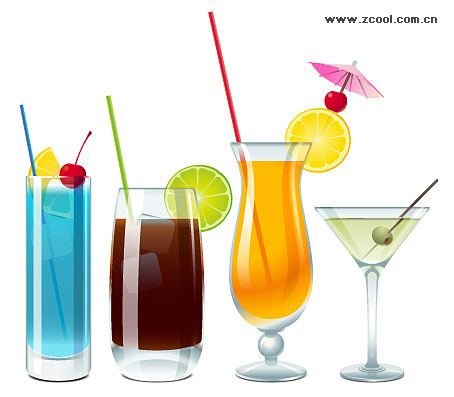 cups drinks vector material