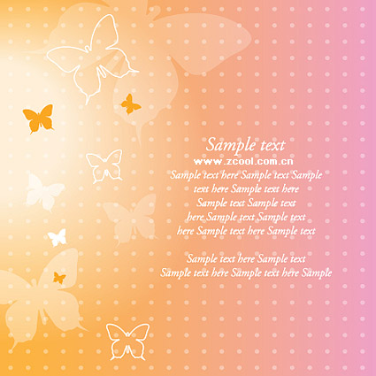Dream Butterfly Vector Background material