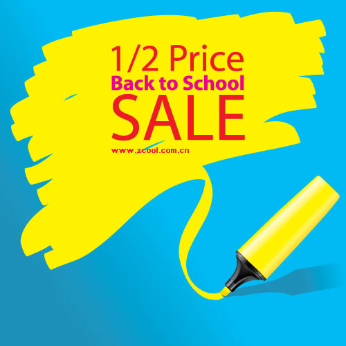 Half-price sale of vector material
