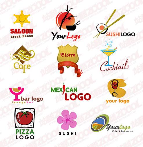 Cute logo vector graphic material