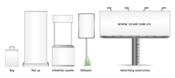 Vector material blank billboard