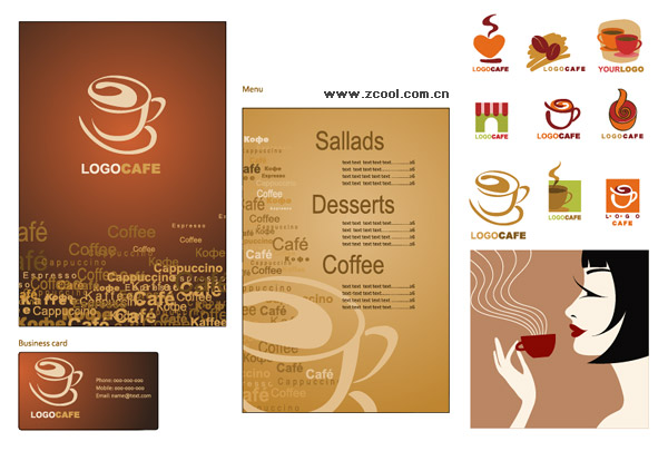 Coffee vector subject material