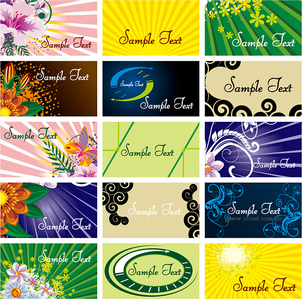 The background of a number of practical card template vector material