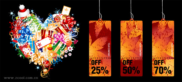 Fun shopping element vector material