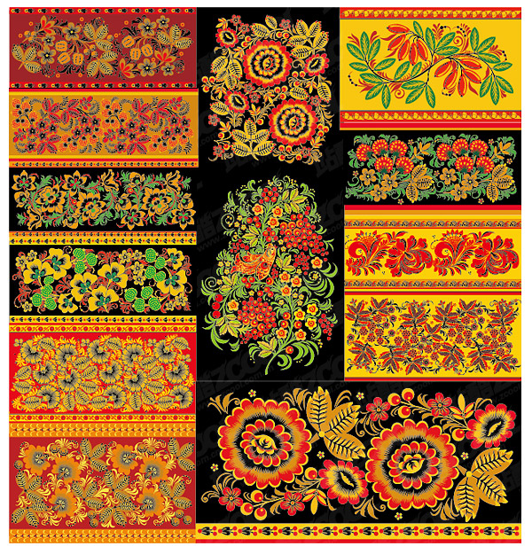 Classical pattern vector material Series -3 - lace pattern
