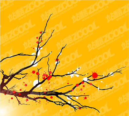 Like a plum tree in general the ink vector material