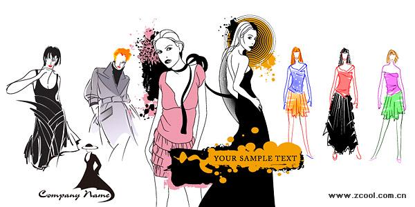 Vector fashion women