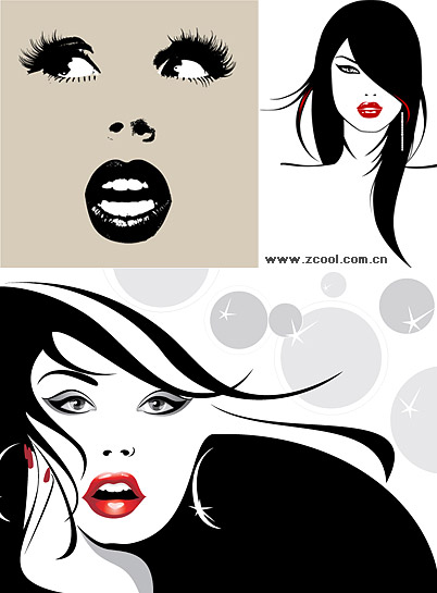 vector illustrations of female material
