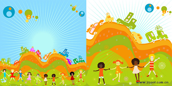 Fun for children 2 illustrator vector material