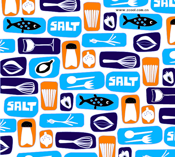 Lovely food and beverage background vector material