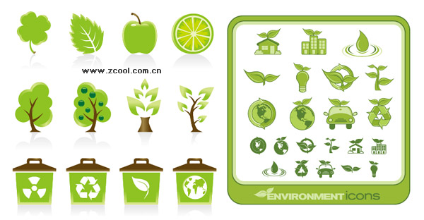 green icon vector material