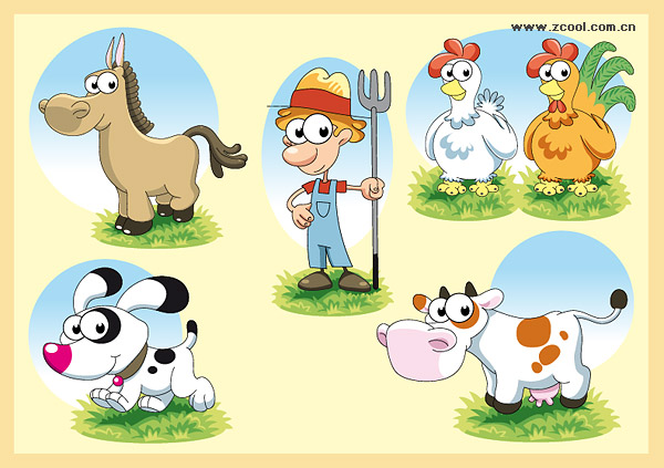 Lovely farm series vector material