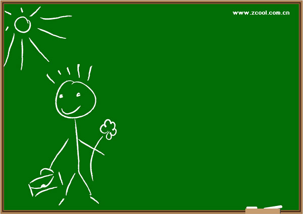 Children on the blackboard graffiti vector material