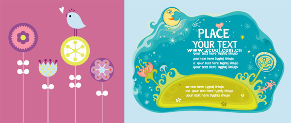 cute vector illustration material trends