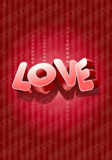 Three-dimensional vector material LOVE