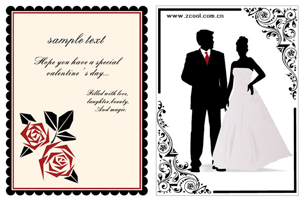 Lace Wedding vector material
