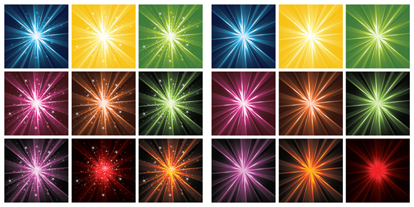 Multi-color light radioactive material vector