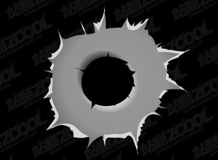 Bullet holes vector material