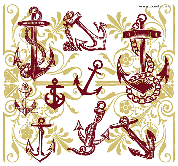 Anchor with the pattern vector material
