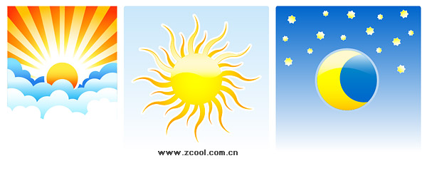 Sun Moon vector material