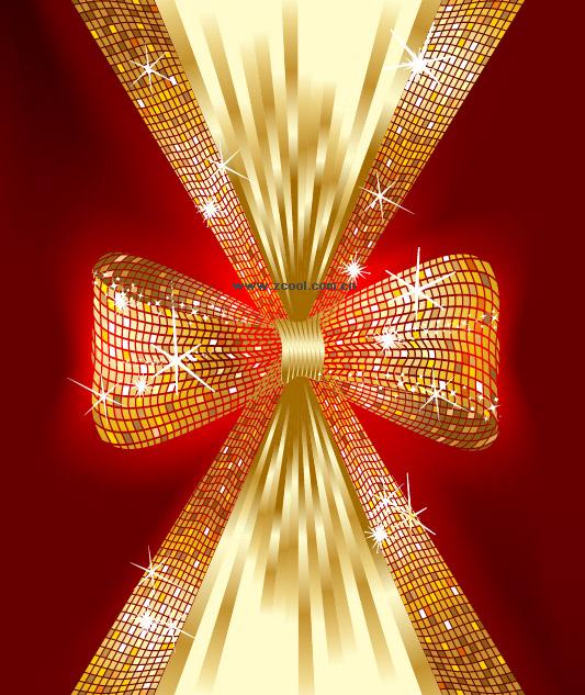 Sparkling bow vector