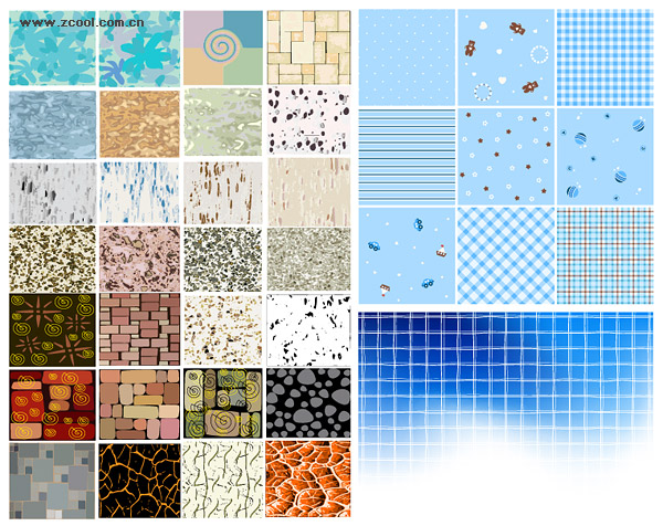 Vector number of a variety of background material