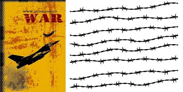 The theme of war material vector