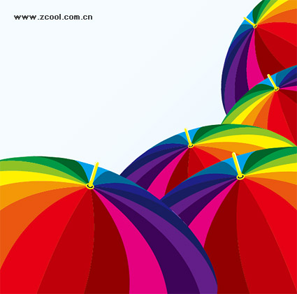 Color vector of the umbrella material