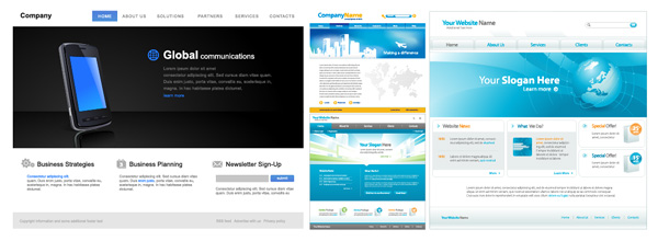 web page design template vector material