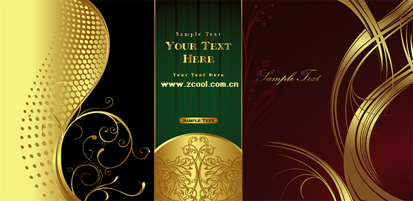 beautiful gold pattern pattern vector material