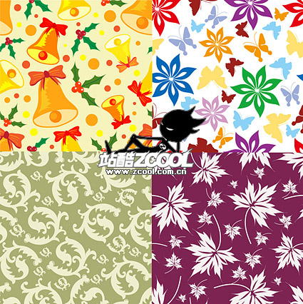 the background of Christmas and the pattern vector material