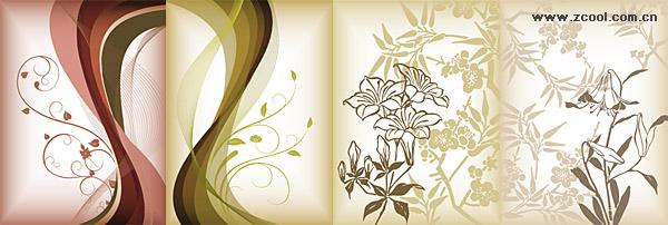 flower pattern vector material