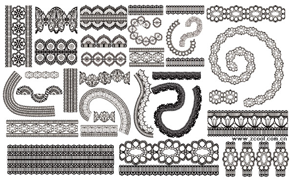 Grace lace pattern vector material-2